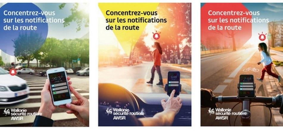 Concentrez-vous sur les notifications de la route