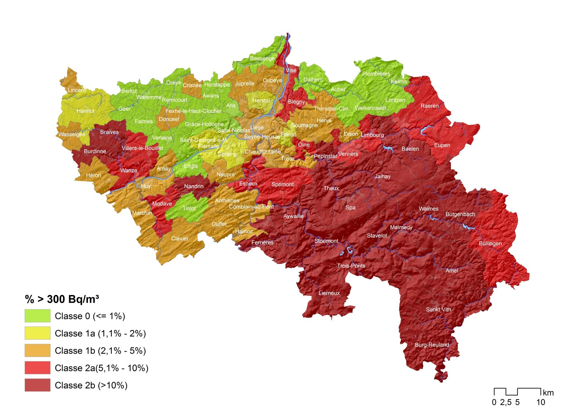Carte radon 2018 LIEGE