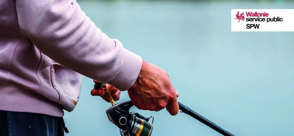 Mise en ligne d'une nouvelle donnée cartographiant la législation sur la pêche dans les voies hydrauliques de Wallonie