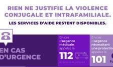 Violence conjugale et intrafamiliale : les services d'aide restent à votre disposition !