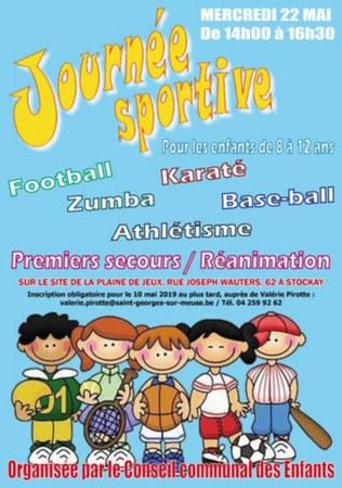 Journée sportive pour les enfants de 8 à 12 ans