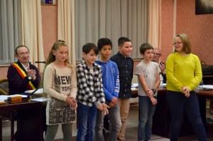 Prestation de serment pour les 7 nouveaux jeunes conseillers communaux