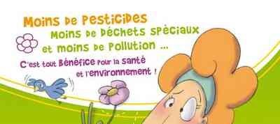 Moins de pesticides